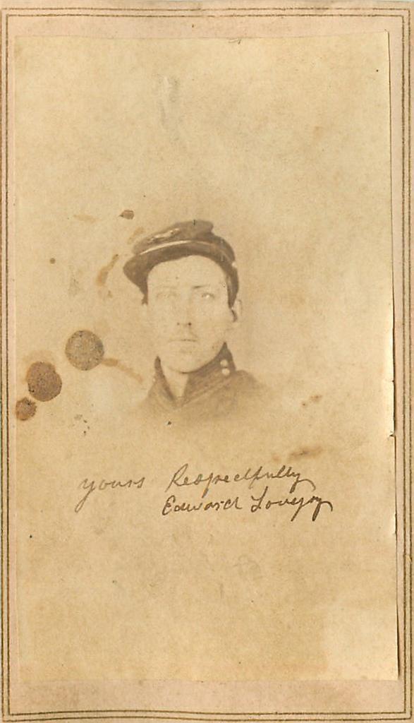 Civil War CDV w Tax Stamp Signed Edward Lovejoy Union Soldier Indiana Postmaster | eBay