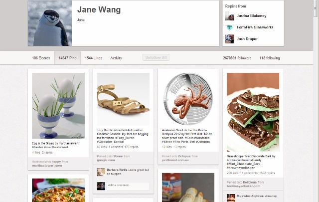 New Pinterest Profile Pages Are Here, and I liked the old ones better. :/