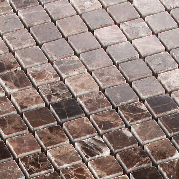 Antikmarmor Mosaik Emperador. NatursteineFliesenMosaik