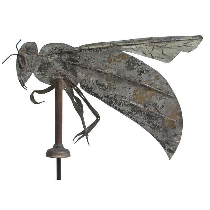 19th century painted galvanized iron bee weathervane. New Hampshire. ****  Back yard NEEDS this