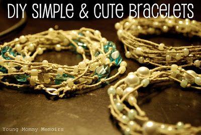 DIY Super Simple and Beautiful Hemp Bracelets