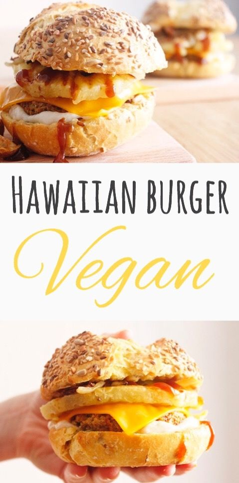 Hawaiian Burger- Vegan- ReinasyRepollos- Recipe in spanish.