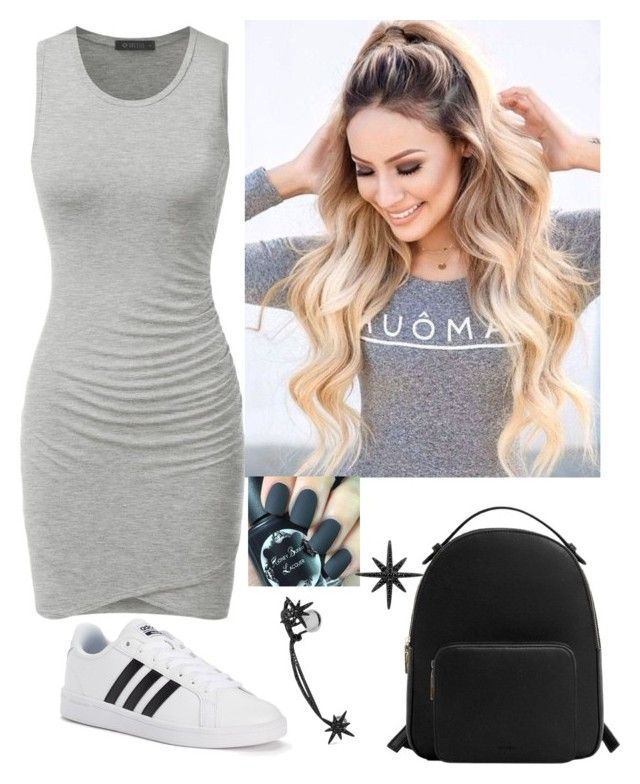 """Beautiful all day everyday"" by paoladouka on Polyvore featuring adidas, MANGO and APM Monaco"