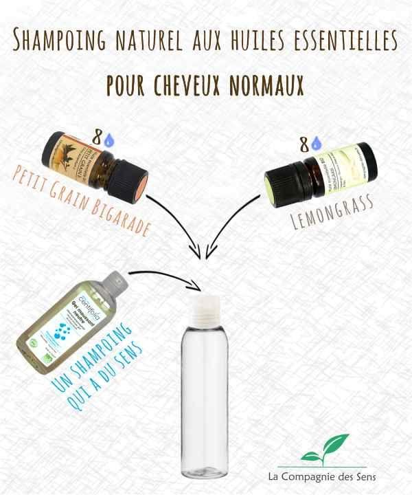 Shampoing naturel pour cheveux normaux. Une douce odeur citronnée pour assainir le cuir chevelu en douceur et apporter brillance, force et vitalité à votre chevelure !