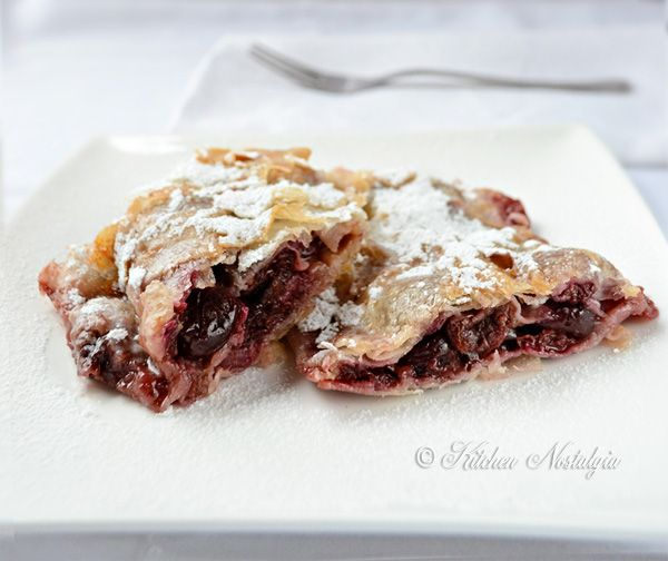 Cherry Strudel is very popular late spring / early summer dessert in Central Europe. It can be made with frozen or bottled cherries, but fresh are the best. Cherry Strudel Serves: 10 Ingredients 9 phyllo pastry sheets 2 Tbsp bread crumbs 1 kg (2 lb) fresh cherries, washed and pitted …