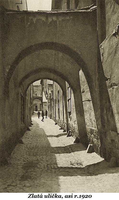 Zlatá ulička, asi 1920