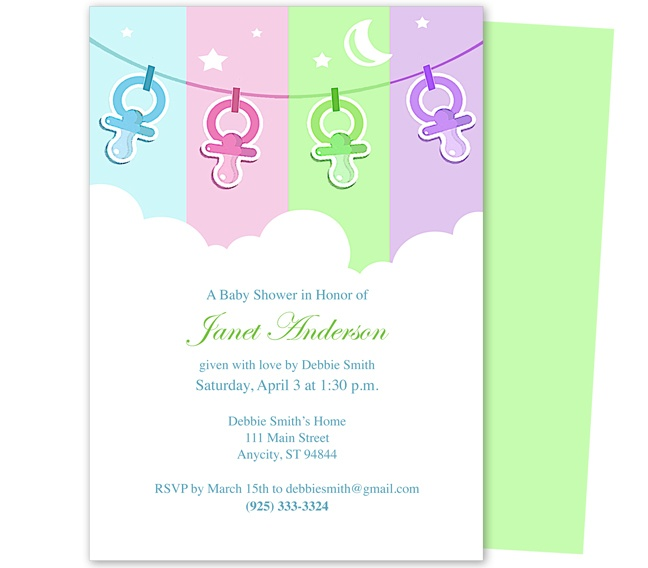 42 Best Baby Shower Invitation Templates Images On Pinterest | Diy