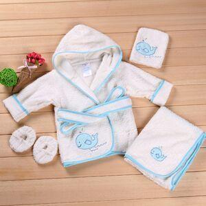 Халат дети хлопок малыш халат мальчики банные халаты банный халат костюм полотенце одеяло младенца костюм одежда для новорожденных