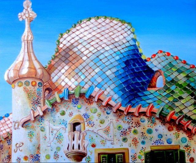9 best images about pintura casas modernistas de - Casas modernistas barcelona ...