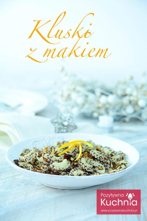 Kluski z makiem - #przepis na #deser na wigilię  http://pozytywnakuchnia.pl/kluski-z-makiem/  #wigilia #deser #makaron #pasta #mak