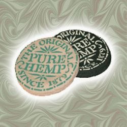 """PURE HEMP FRISBEES - Our 8"""" round 1lb frisbee is made from 100% Organic Hemp canvas. The rim is folded over and filled with Hemp seeds giving it a great flying weight. Not being plastic, this does not hurt when hit accidentally, so it is GREAT for kids learning to throw and catch!  **available in Black or Natural with our PURE HEMP logo Available HERE: www.shop.purehemp.com/content/pure-hemp-frisbee"""
