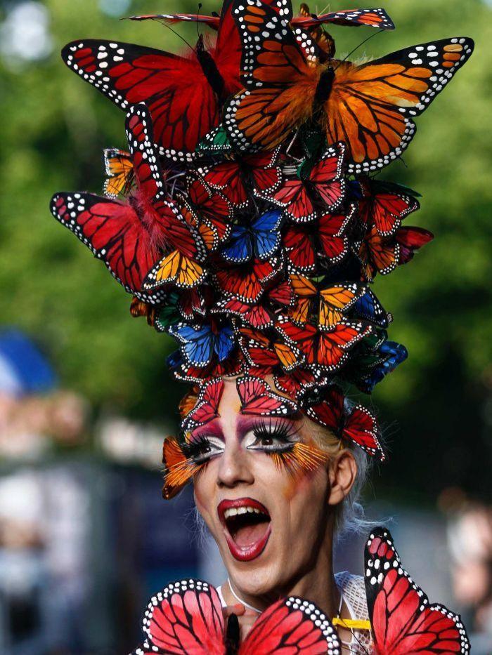Drag queen celebrates in Buenos Aires