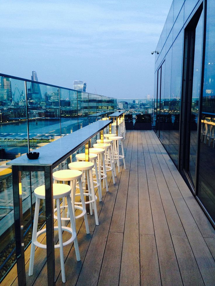 The mondrian bar london bucketlist pinterest for Rooftop bar and terrace
