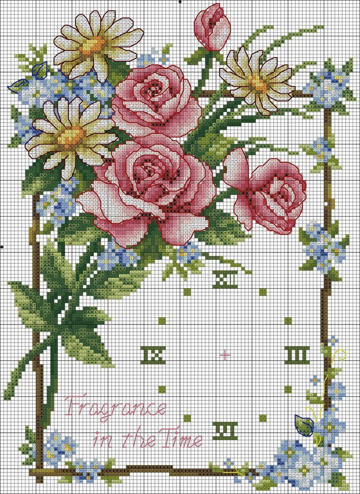 Rose floral clock xs ......