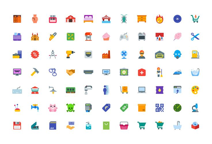 TweetSumoMe This simple, small and flat color icons set is so cute that you keep…