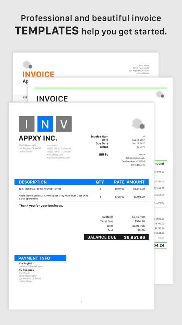 Tiny Invoice On The App Store Invoice Template Word Invoice Template Sample Resume