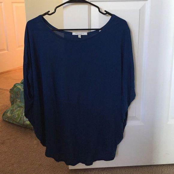 M Bella Luxx blue short sleeve top Deep blue medium top, super soft, modal fabric, short sleeve, a bit baggy near neck and then a bit more fitted at waist, never worn Bella Luxx Tops Tees - Short Sleeve