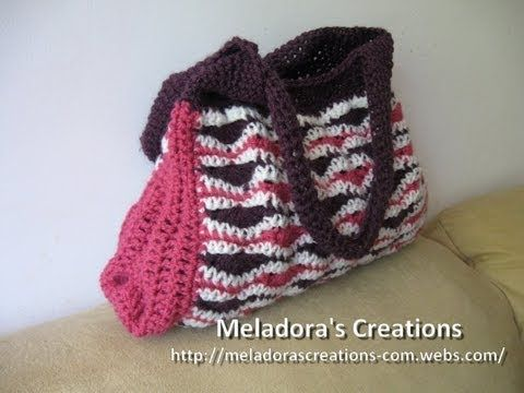 Wavy Stitch Handbag - Left Handed Crochet Tutorial - YouTube
