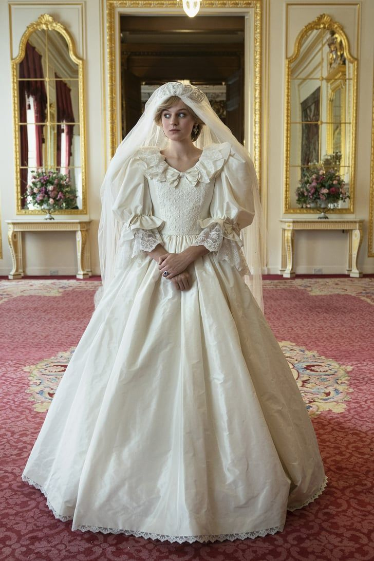 Netflix Shares How The Crown S Costume Designer Replicated Princess Diana S Wedding Dress In 2020 Diana Wedding Dress Princess Diana Wedding Dress Princess Diana Wedding