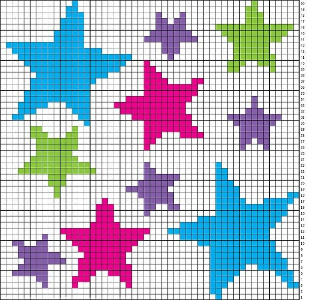 Star crosstitch pattern.