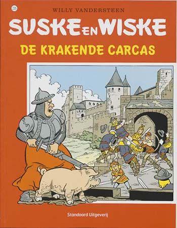 Suske en Wiske: De Krakende Carcas (235): Lambik steelt in een Frans museum een replica van de Hoorn van dame Carcas en komt na een wilde achtervolging terecht in een eeuwenoude gang waar flesjes met geesten bewaard worden. Als de geest van Carcas verdwijnt en de originele Hoorn wil bemachtigen, moet Lambik hem achterna gaan maar komt te laat: de geest heeft al bezit genomen van het lichaam van een herderin en kan nu operatief zijn.