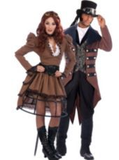 Steampunk Vickey and Steampunk Jack Couples Costumes - Party City