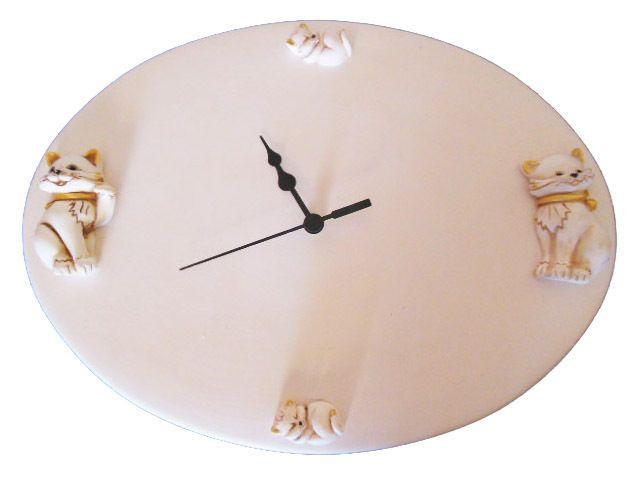 orologio parete cucina in ceramica artigianato italiano dipinto e realizzato interamente a