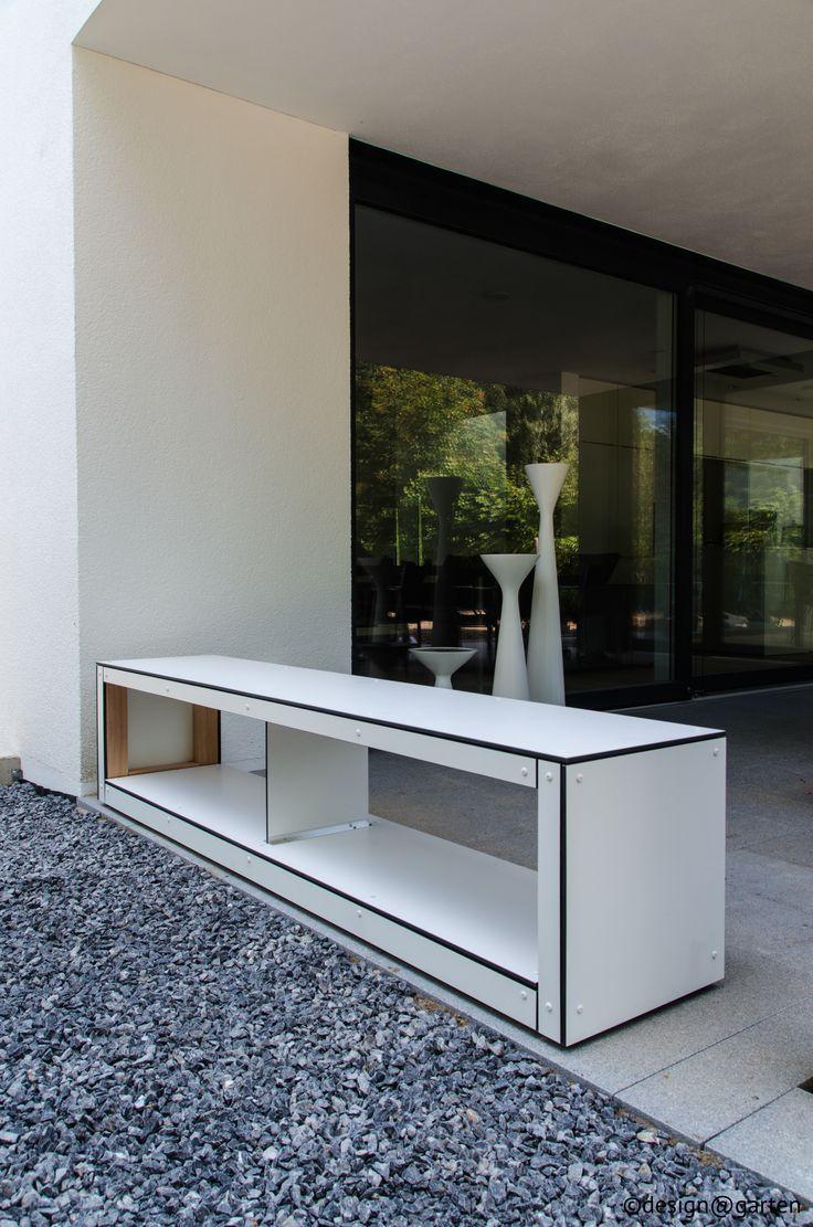 Great kaminholzlager wood sitzboard by design garten garden design ideas Pinterest