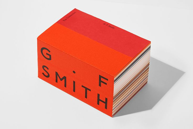 The Collection from G . F Smith | Paper Print Brochure Layout Branding Graphic Design | Award-winning Branding | D&AD