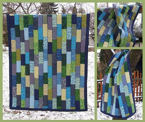 Blue dream -simple quilt