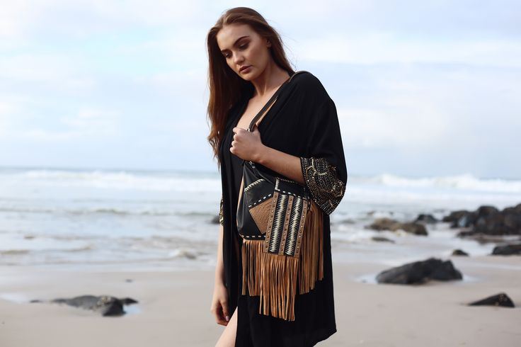 LUVIA LEATHER FRINGE FESTIVAL BAG - Lokoa Leather #gypsy #bohemian #style