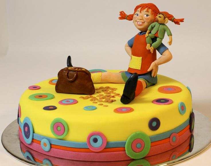 Ny Pippi Långstrump tårta