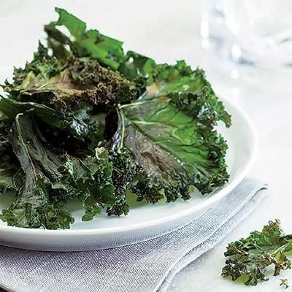 Kale Chips | KitchenDaily.com  This sounds good and easy. I'm going to try it.