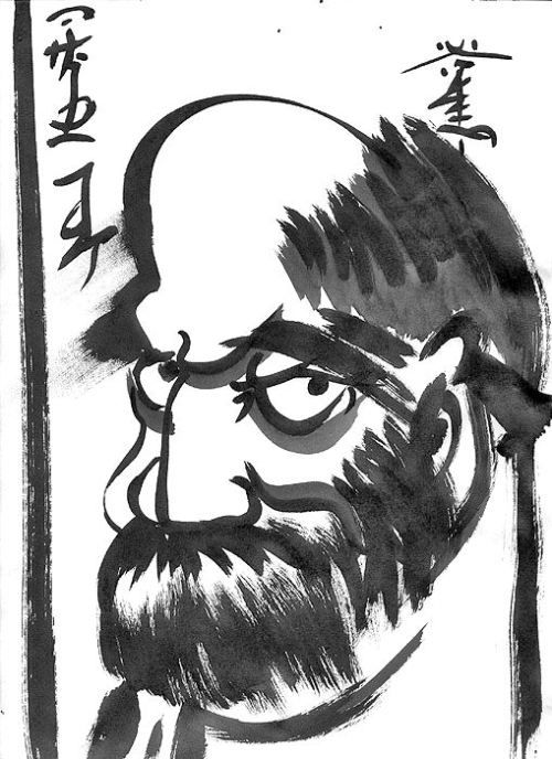 Self-portrait As a Zen Monk (only difference, my beard is here black, it was  salt and pepper then...)