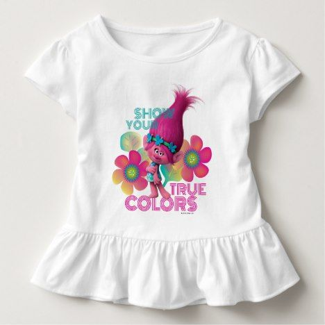 Trolls | Poppy - Show Your True Colors Toddler T-shirt #rainbow #kids #clothing