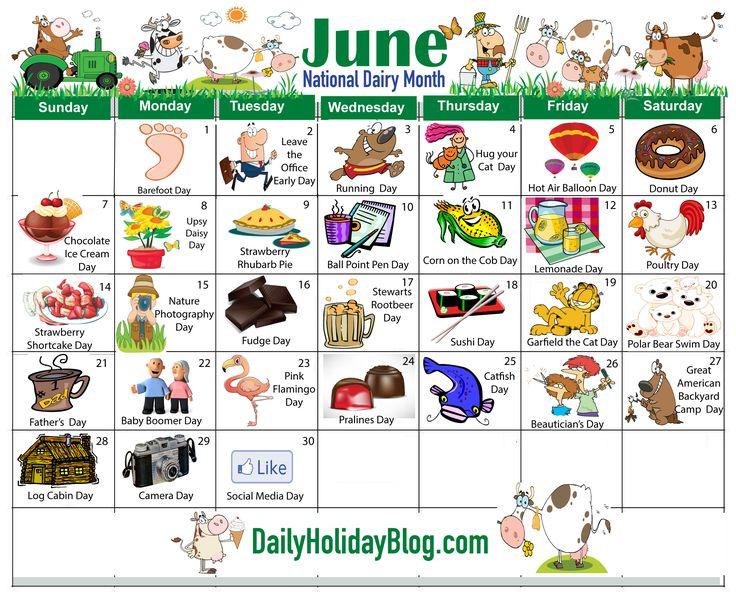 june holidays calendar