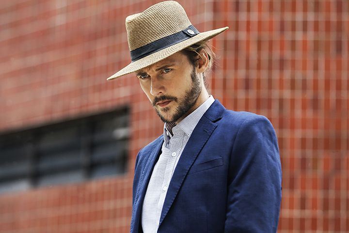 How to rock a fedora and jacket combo.