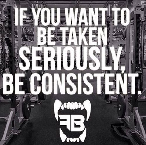 If you want to be taken seriously, be consistent.