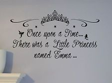 Cinderella Nursery Wall Mural | ... Name Little Princess Castle Wall Decal Mural Custom NURSERY CROWN