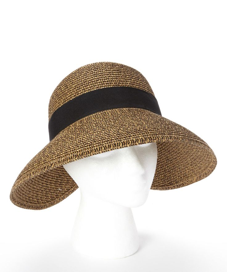 Loving this Jeanne Simmons Accessories Black Bow UPF 50+ Sunhat on #zulily! #zulilyfinds