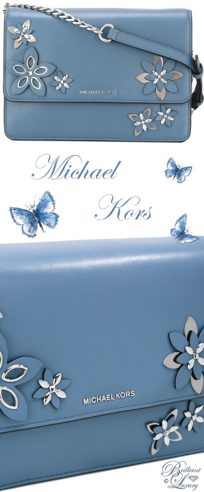 Brilliant Luxury by Emmy DE ♦ Michael Kors Floral Applique Shoulder Bag