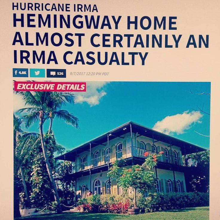 Casa e museu do escritor Ernest Hemingway em Key West na Florida está no caminho do Furacão Irma de categoria 5. A matéria é do site TMZ.  #hemingway #ernesthemingway #keywest #hurricaneirma #atlantichurricaneseason #hurricaneseason2017 #furacaoirma #floridakeys #florida #endoftimes #TMZ #ernesthemingwayhome #feriadão #floridakeys #casadohemingway #cat5