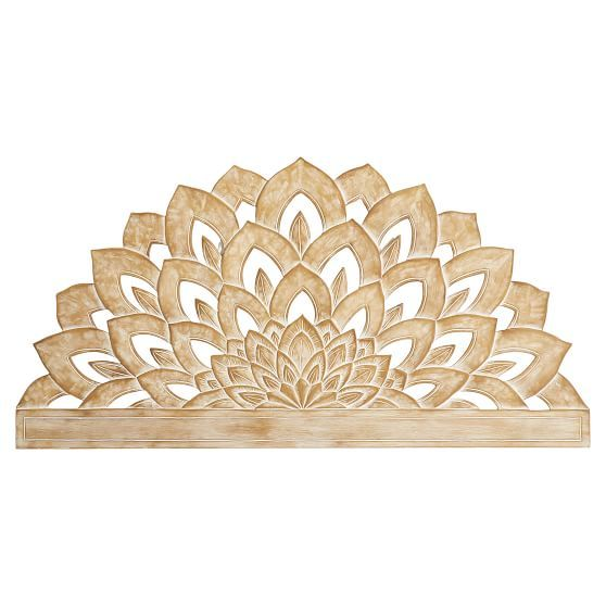 Wood Carved Faux Headboard | PBteen