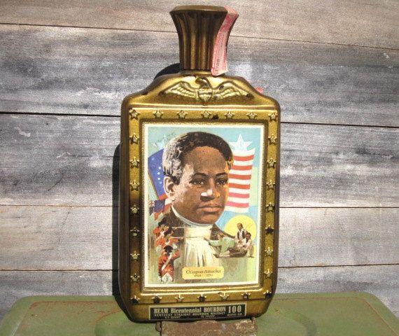Vintage Jim Beam Bourbon Bottle Crispus Attucks by VintagebyKanina, $60.33