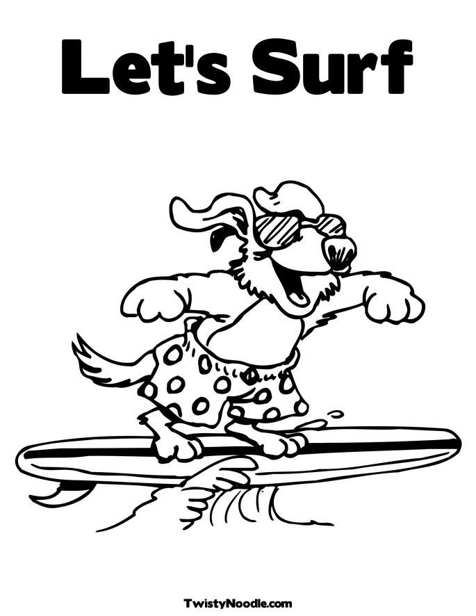 free surfer coloring pages - photo#24