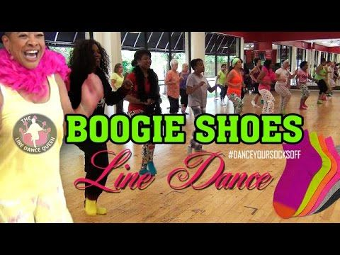Boogie Shoes Line Dance-The Line Dance Queen & Friends - YouTube