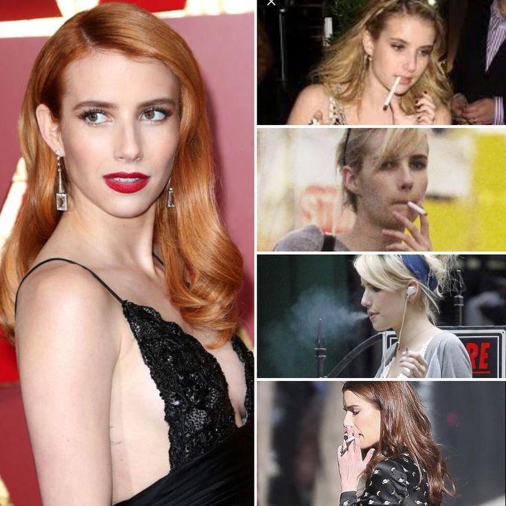 "52 Likes, 2 Comments - Smoke and Models (@smokeandmodels) on Instagram: ""Smoking Celebrity Spotlight: Emma Roberts - Beautiful actress Emma Roberts, 26, is an IRL smoker.…"""