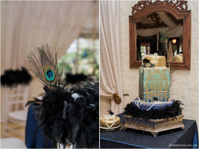An amazing Gatsby inspired wedding. We are so amazed by this stunning wedding cake. We are passionate about weddings at Casa-lee Country Lodge in Pretoria East www.casa-lee.co.za