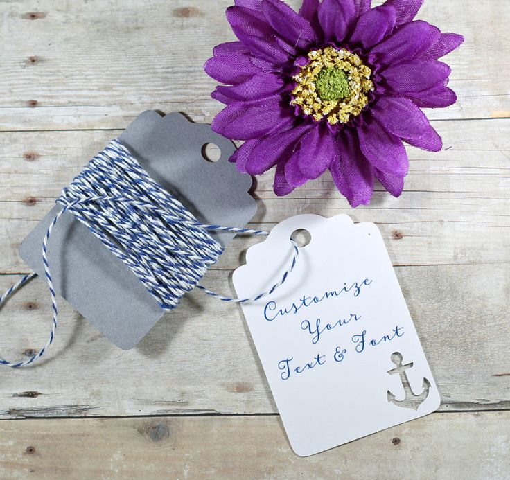 Anchor Party Tags Set of 20 - Bridal Shower Favor Tags -Custom Nautical Party…