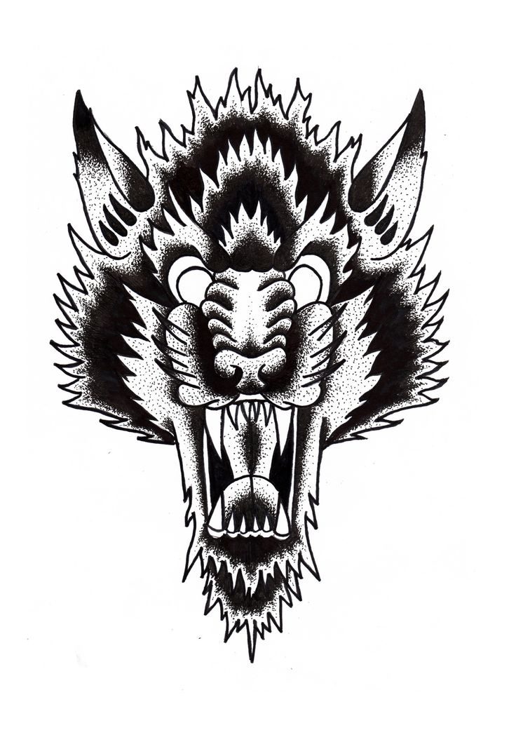 Free download wolf tattoo flash crazy body tattoos wolf